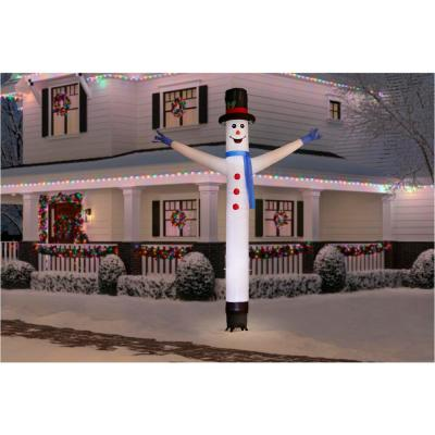 12 ft. Animated Inflatable Jolly Jiggler Snowman