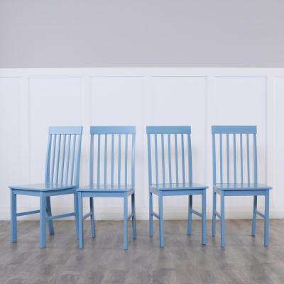 Greyson 5-Piece White and Powder Blue Dining Set