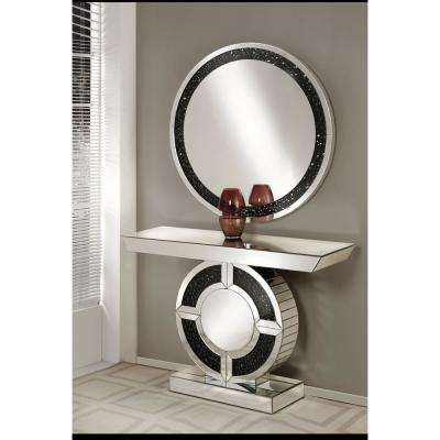 Noor Silver with Mirrored Console Table