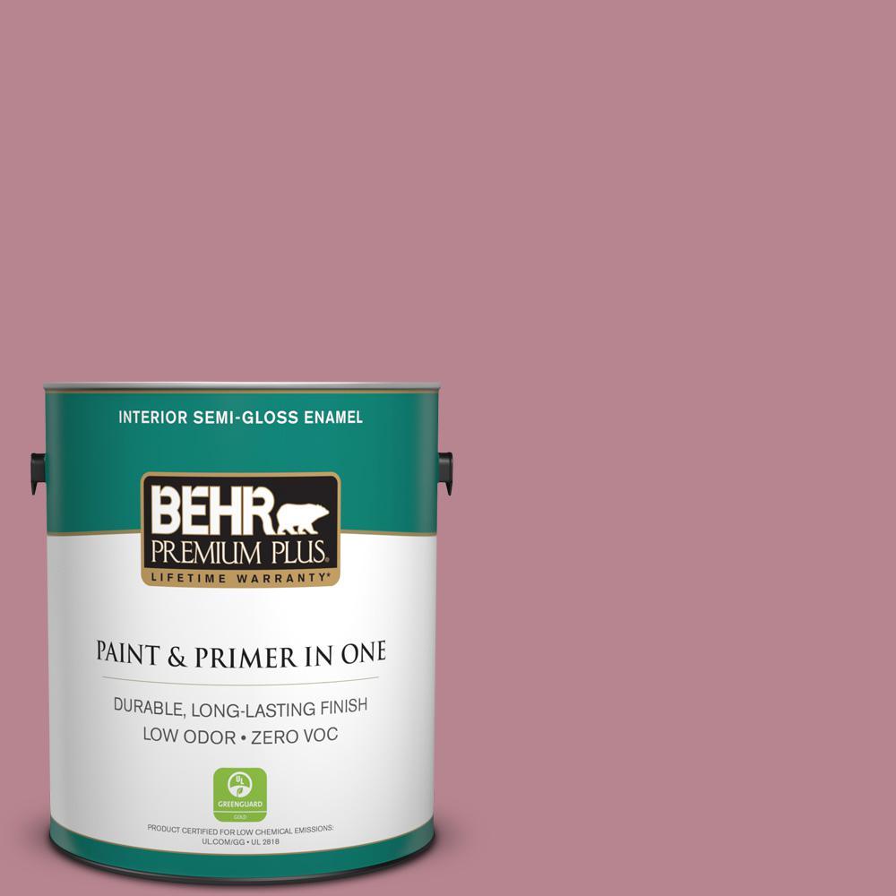 1-gal. #BIC-19 Berry Blush Semi-Gloss Enamel Interior Paint