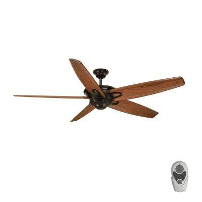 Caleb 68 in. Indoor Antique Bronze Ceiling Fan with Remote