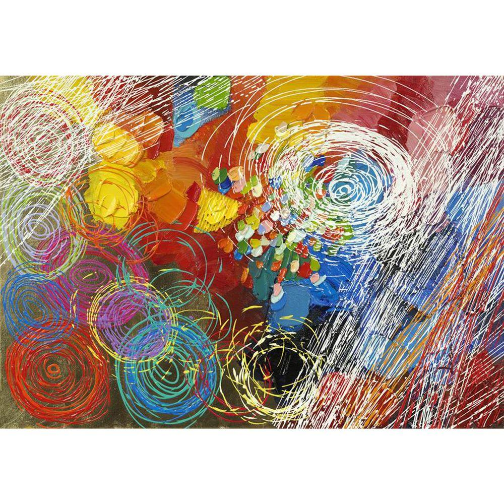 """Yosemite Home Decor 27.5 in. x 39.5 in. """"Cyclonic Abstraction I"""" Hand Painted Contemporary Artwork"""