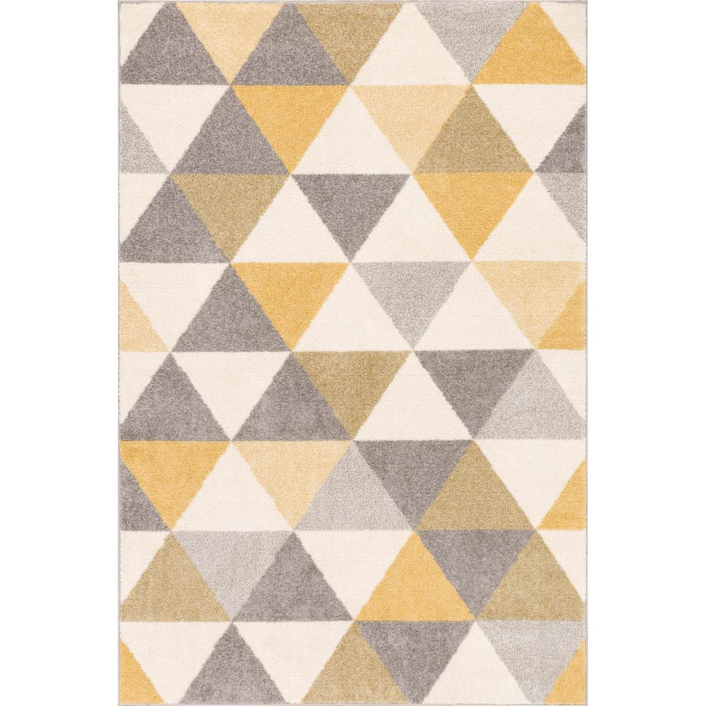 Well Woven Mystic Alvin Gold 8 Ft X 10 Modern Geometric Area Rug