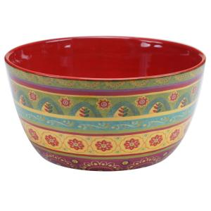 Tunisian Sunset Deep Serving Bowl by