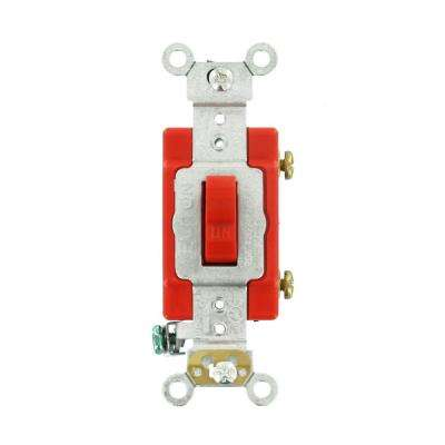 20 Amp Industrial Grade Heavy Duty Single-Pole Toggle Switch, Red