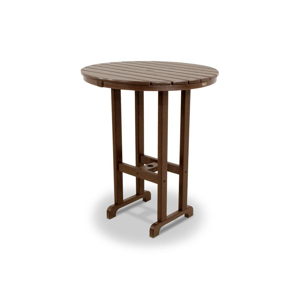 Trex Outdoor Furniture Monterey Bay Vintage Lantern 36 In Round Patio Bar Table