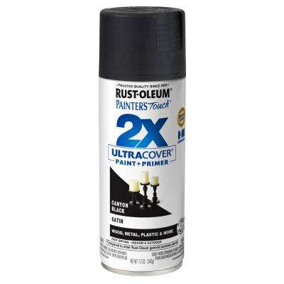 Satin Canyon Black General Purpose Spray Paint