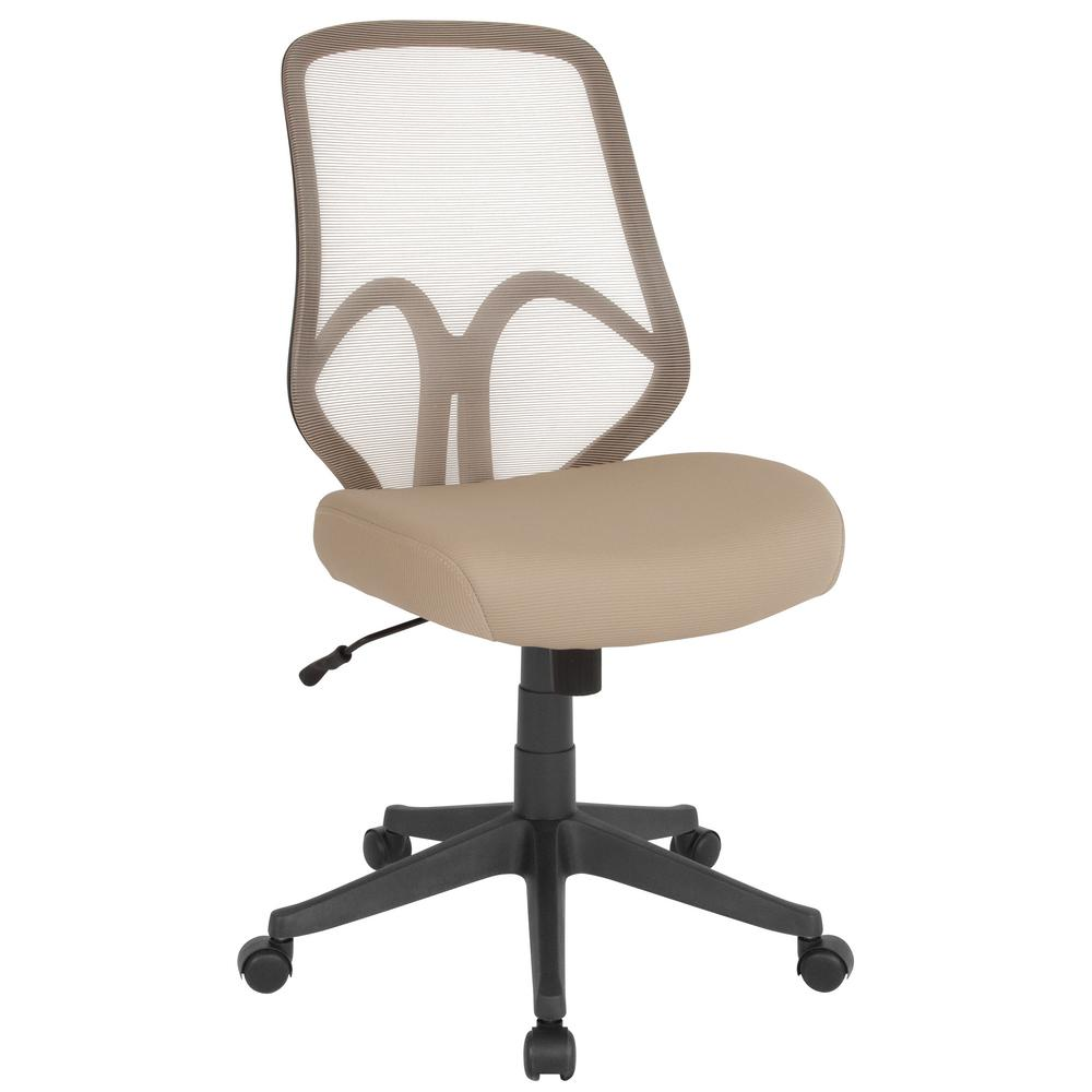 Flash Furniture Light Brown Mesh Office Desk Chair