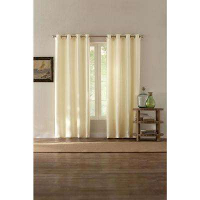 Basket Texture Grommet Curtain