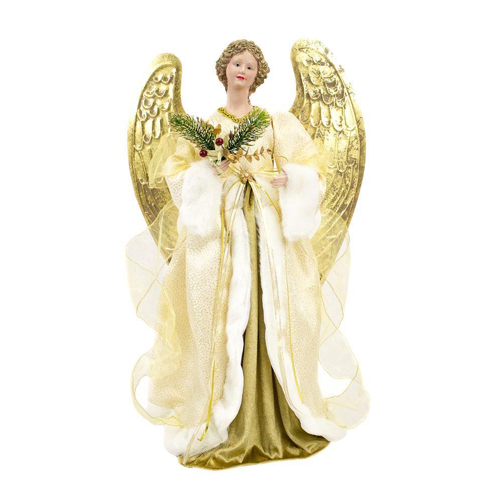 christmas animated musical christmas angel with classic elegant dress up