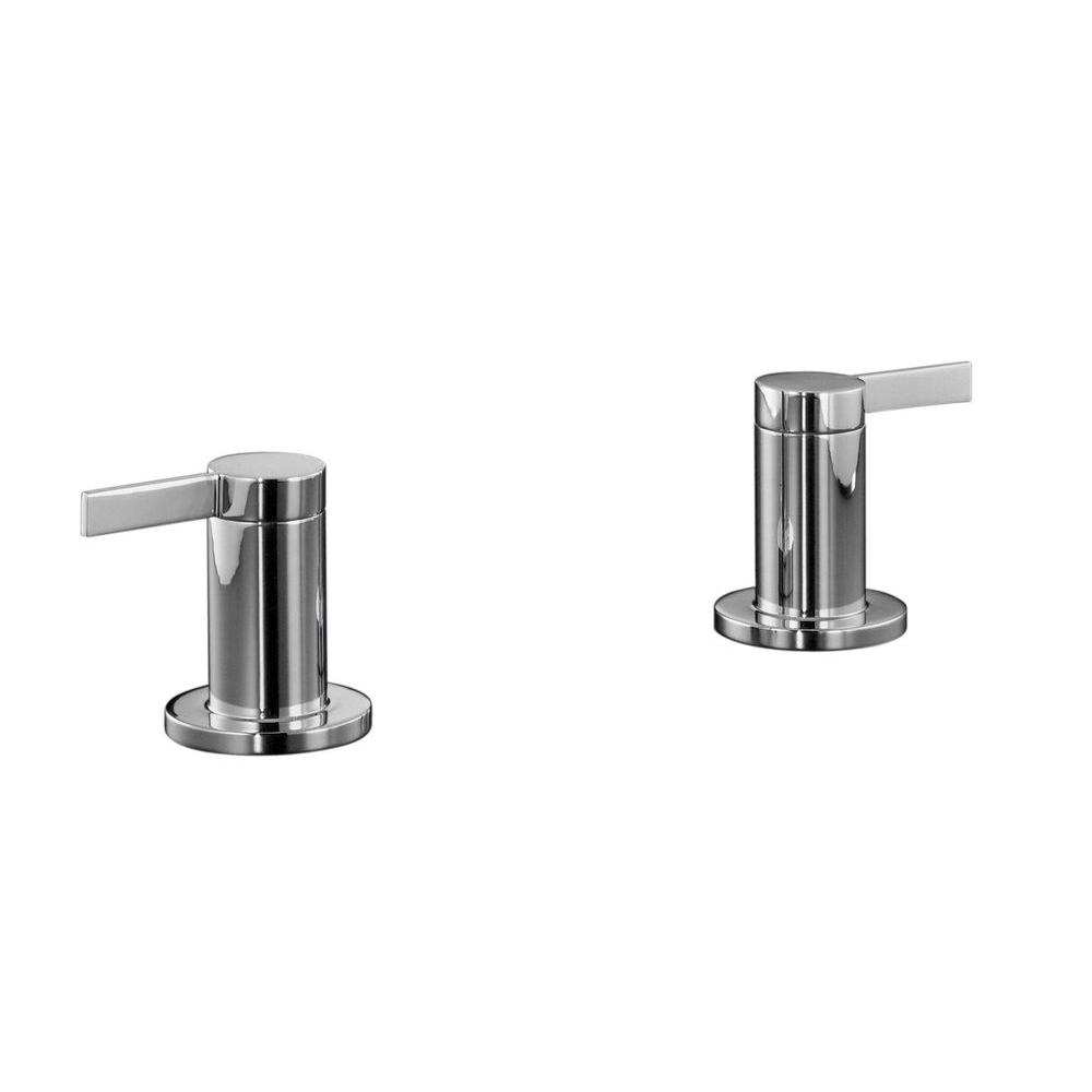 Stillness 2-Handle Deck-Mount Roman Tub Faucet in Polished Chrome