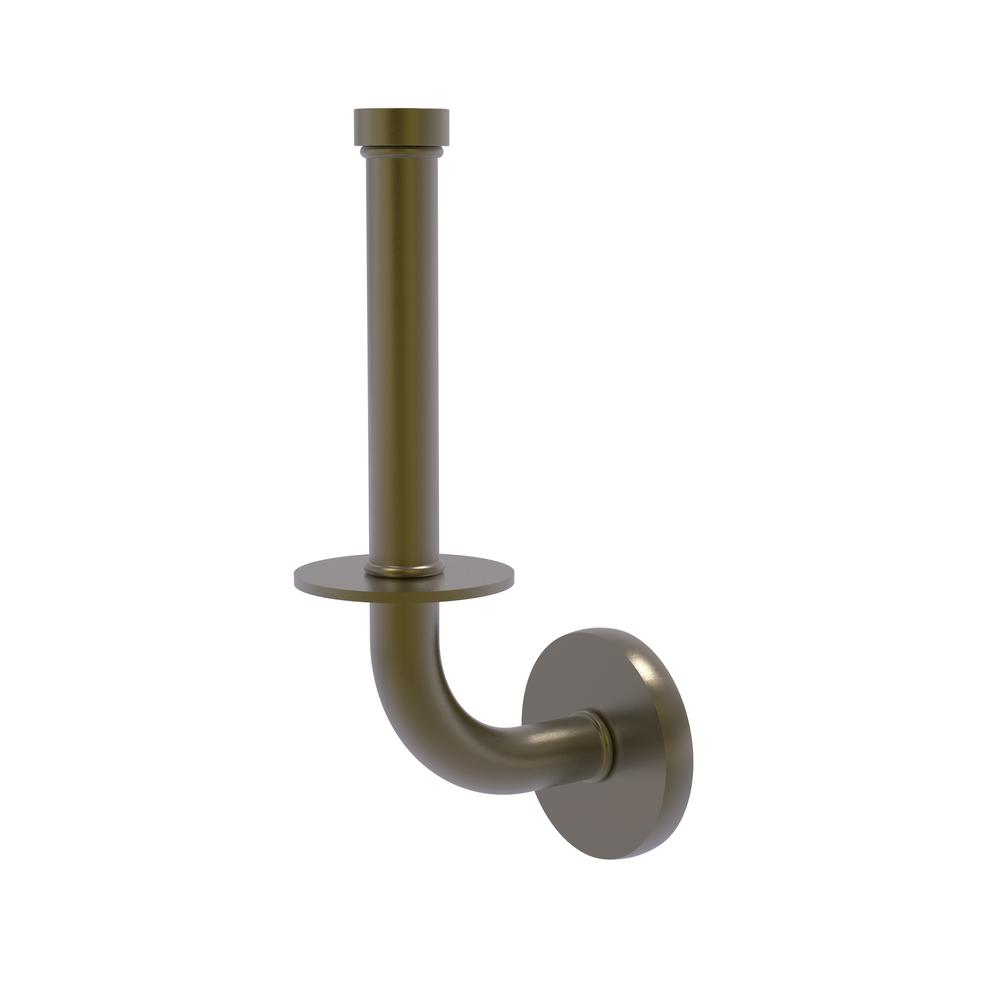 Remi Collection Upright Toilet Tissue Holder in Antique Brass