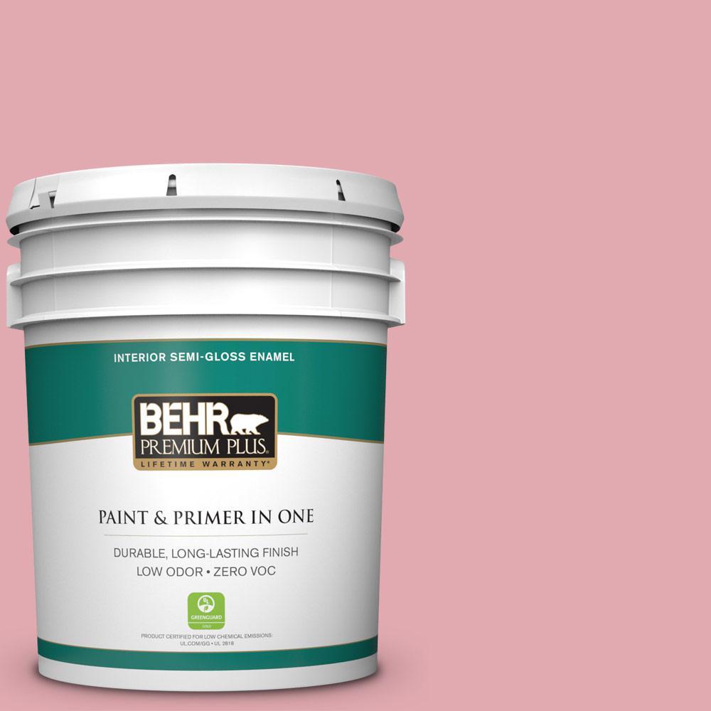 5-gal. #130C-3 Raspberry Lemonade Zero VOC Semi-Gloss Enamel Interior Paint