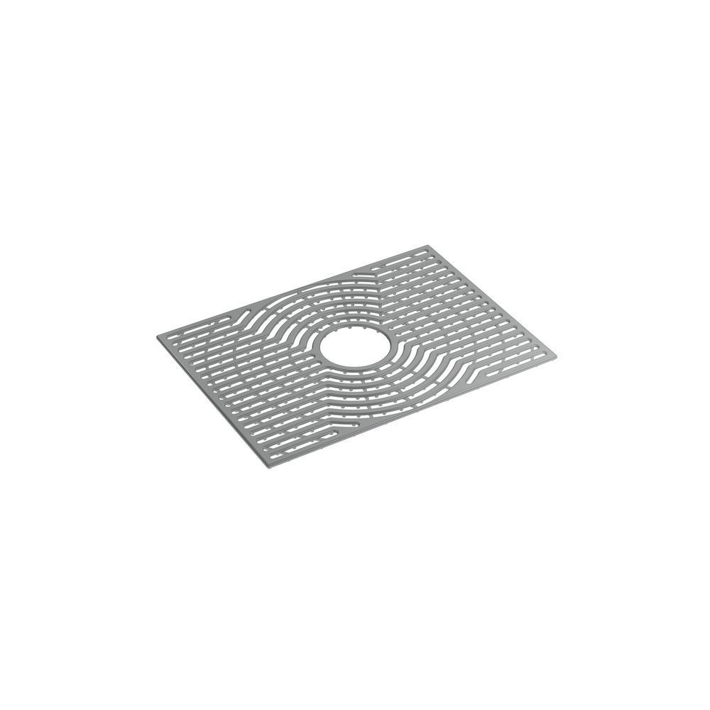 Ash grey silicone kitchen sink mat