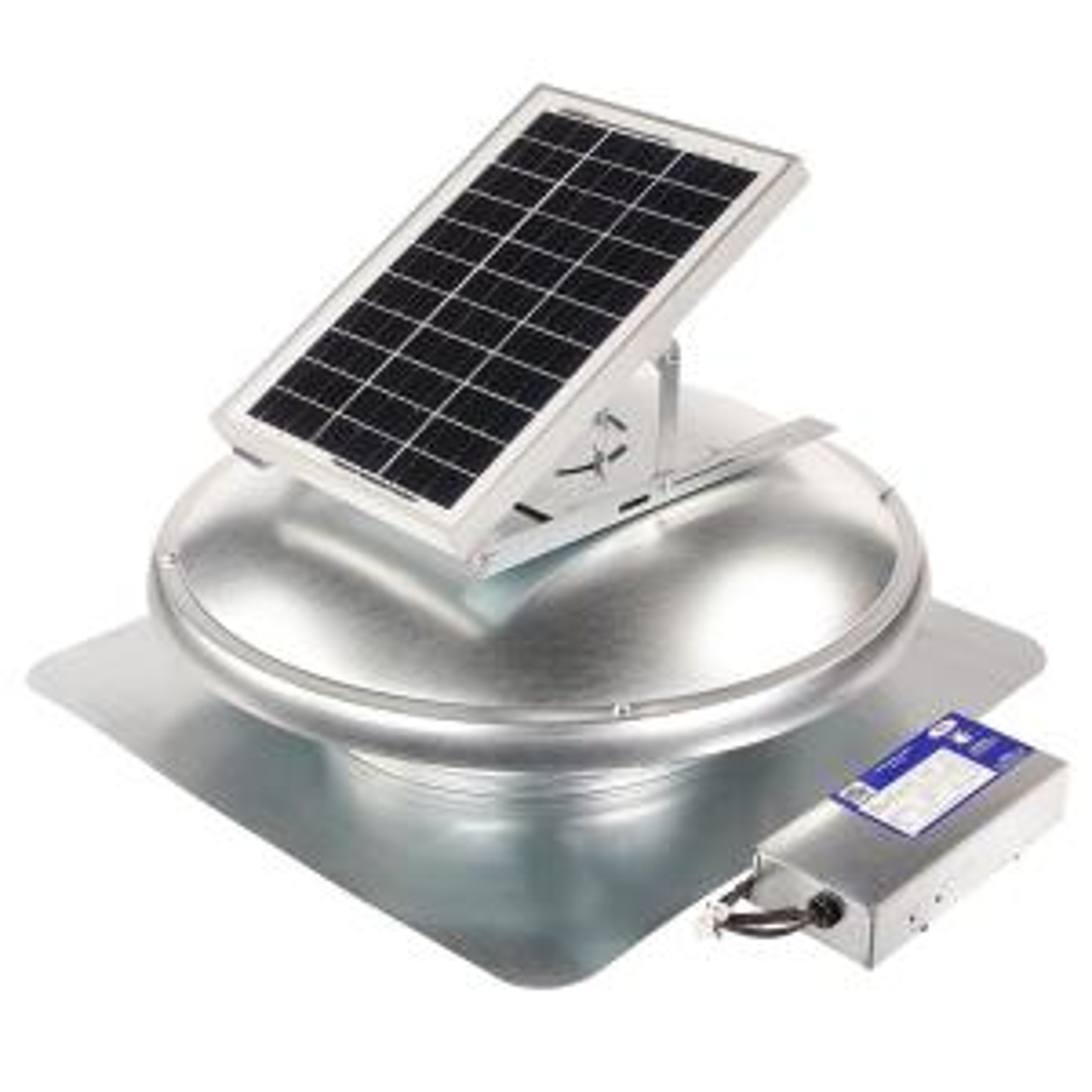 15 Watt Next-Generation – High-Efficiency Hybrid Solar/Electric Powered Roof Mount Exhaust Fan