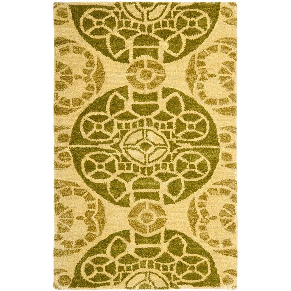 Safavieh Wyndham Honey/Green 2 ft. 6 in. x 4 ft. Area Rug
