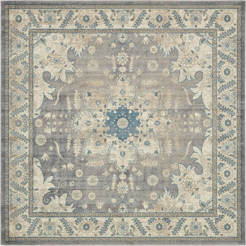 This Review Is From Fl Medallion Salzburg Gray 8 Ft X Square Rug