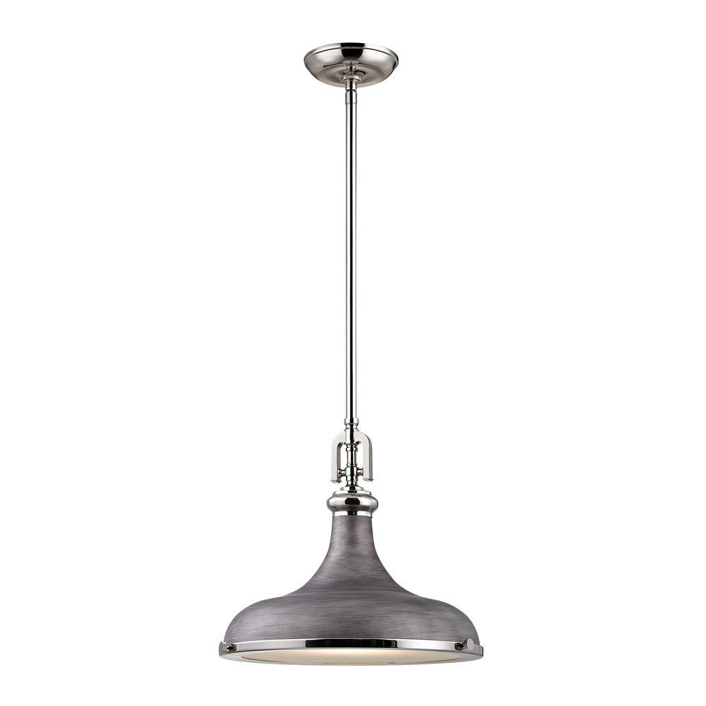 rom to go titan lighting rutherford 1 light polished nickel 13071