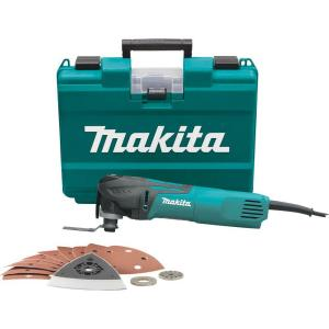 Makita 3 Amp Corded Variable Speed Oscillating Multi Tool Kit With Blade, Sanding Pad,... by Makita