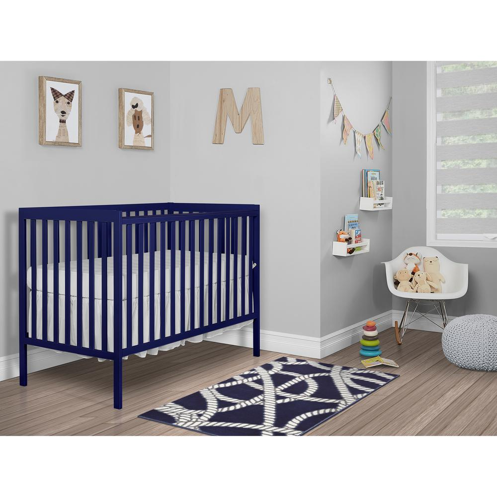 Dream On Me Synergy Royal Blue 5 In 1 Convertible Crib