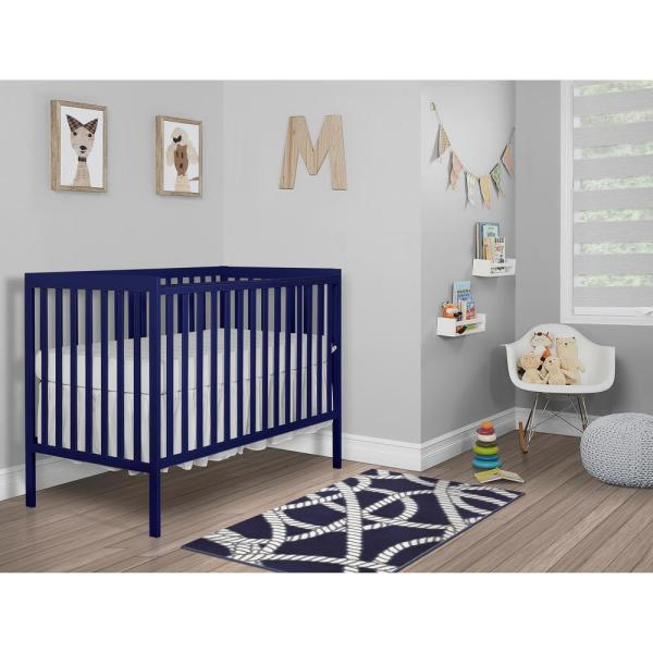 Dream On Me Synergy Royal Blue 5-in-1 Convertible Crib
