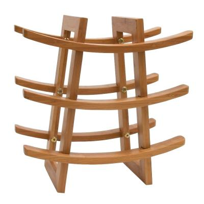 13.25 in. x 12.5 in. x 7 in. Bamboo 9 Bottle Wine Rack
