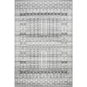 Melina Grecian Distressed Gray 3 ft. x 5 ft. Area Rug