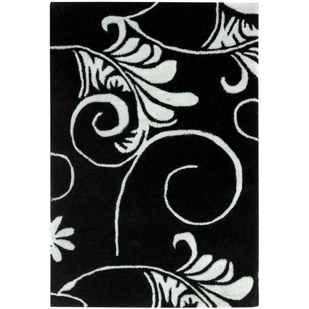 Soho Black/Ivory 2 ft. x 3 ft. Area Rug
