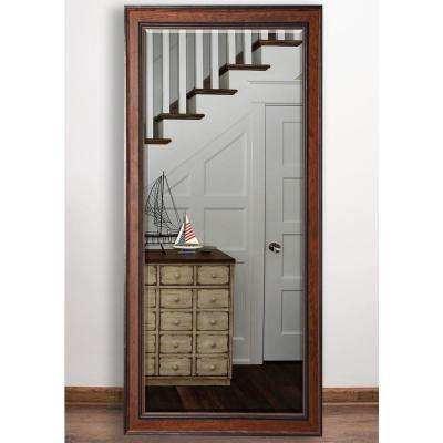 30 in. x 63.5 in. Country Pine Beveled Full Body Mirror