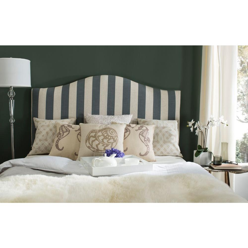 Connie Grey & White Queen Headboard
