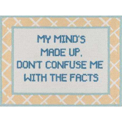 Get Smart Facts of Life Yellow 3 ft. x 4 ft. Kitchen Mat