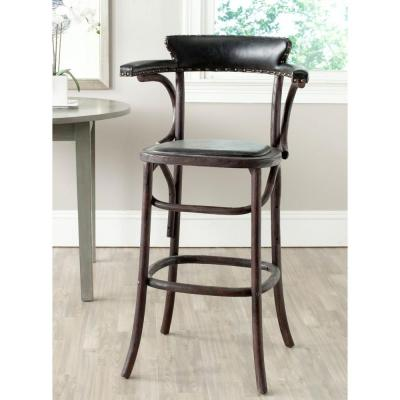 Kenny 30 in. Dark Chestnut Cushioned Bar Stool