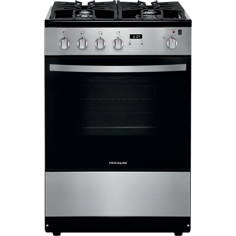 Frigidaire 24 in. 1.9 cu. ft. Freestanding Gas Range with Manual Clean in  Stainless Steel