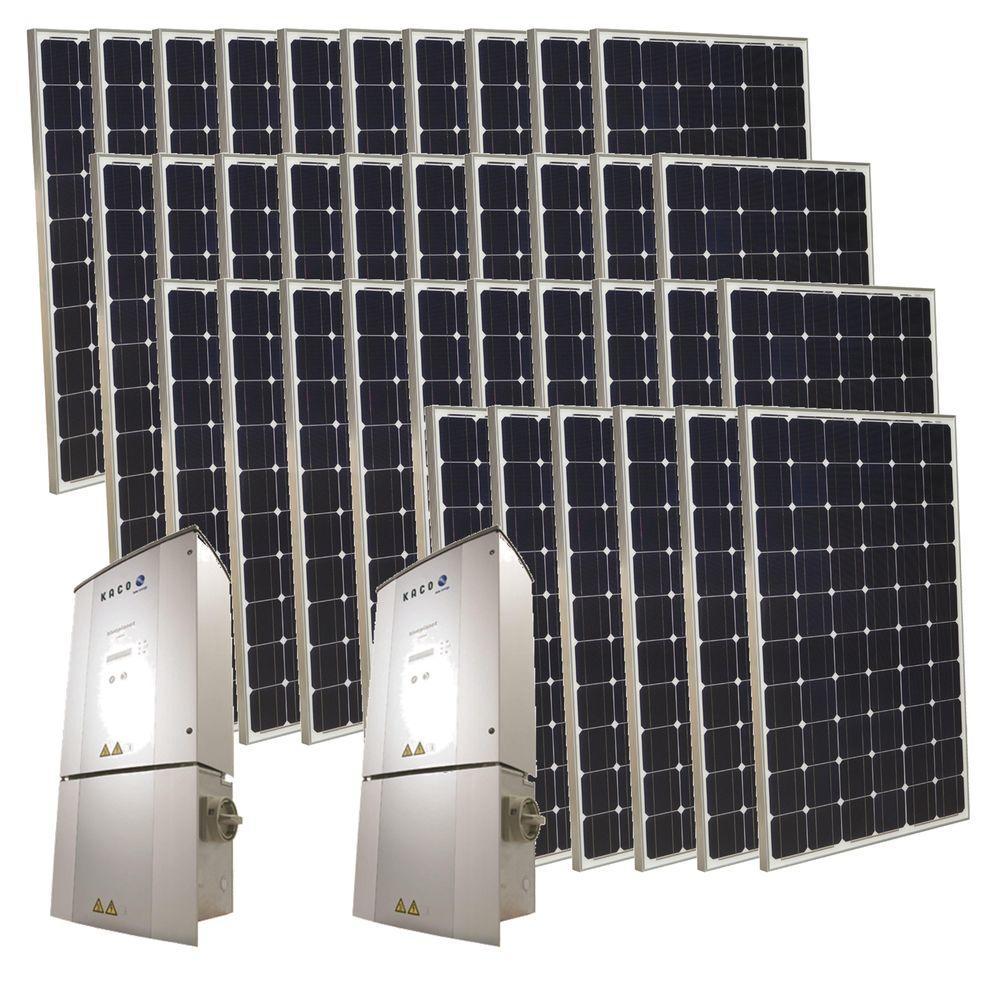 Grape Solar 9,000-Watt Monocrystalline PV Grid-Tied Solar Power Kit-DISCONTINUED