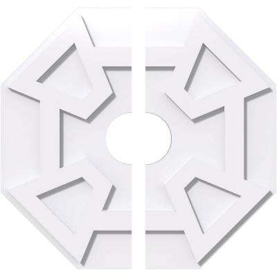 20 in. OD x 4 in. ID x 1 in. P Logan Architectural Grade PVC Contemporary Ceiling Medallion (2-Piece)