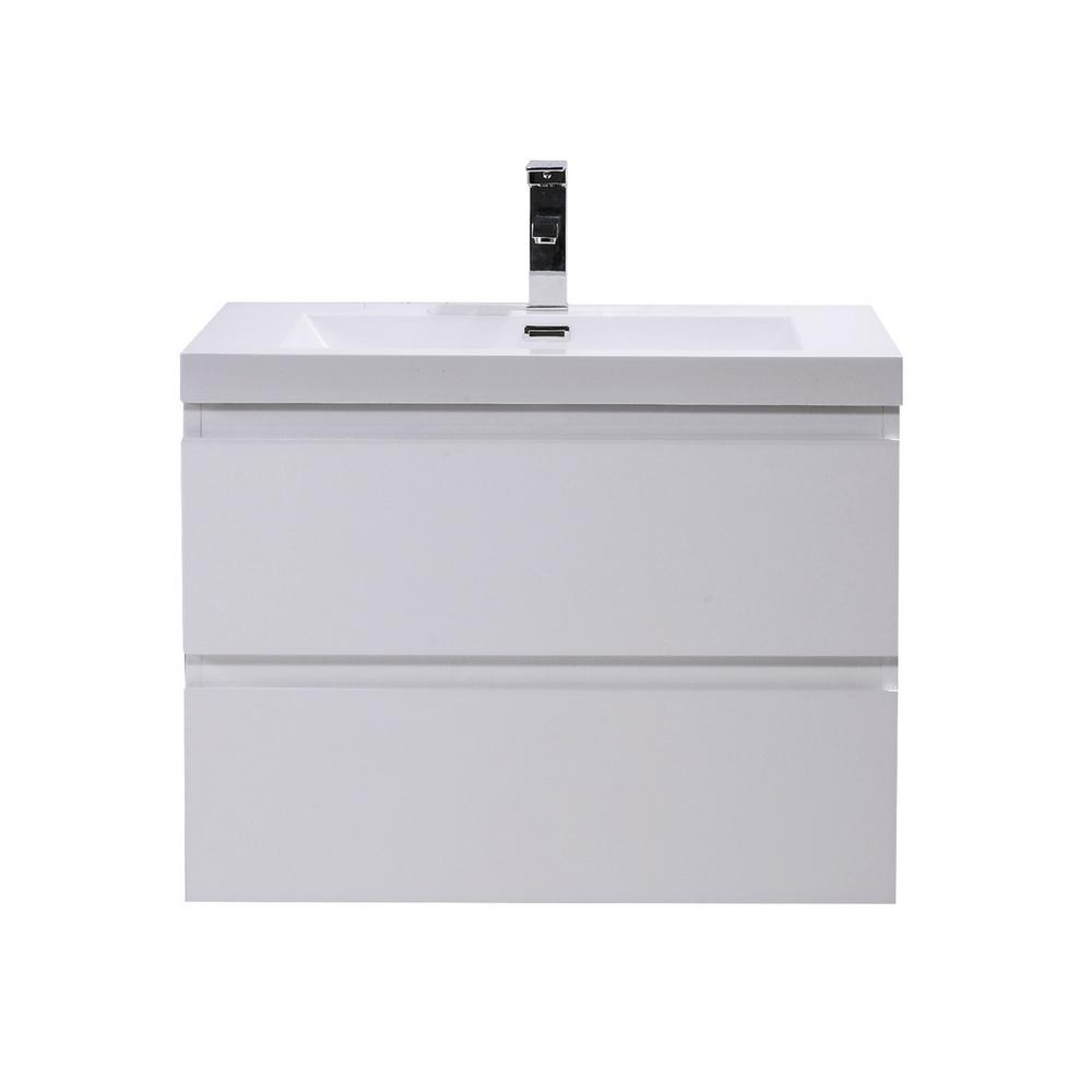 Bohemia 30 in. W Bath Vanity in High Gloss White with
