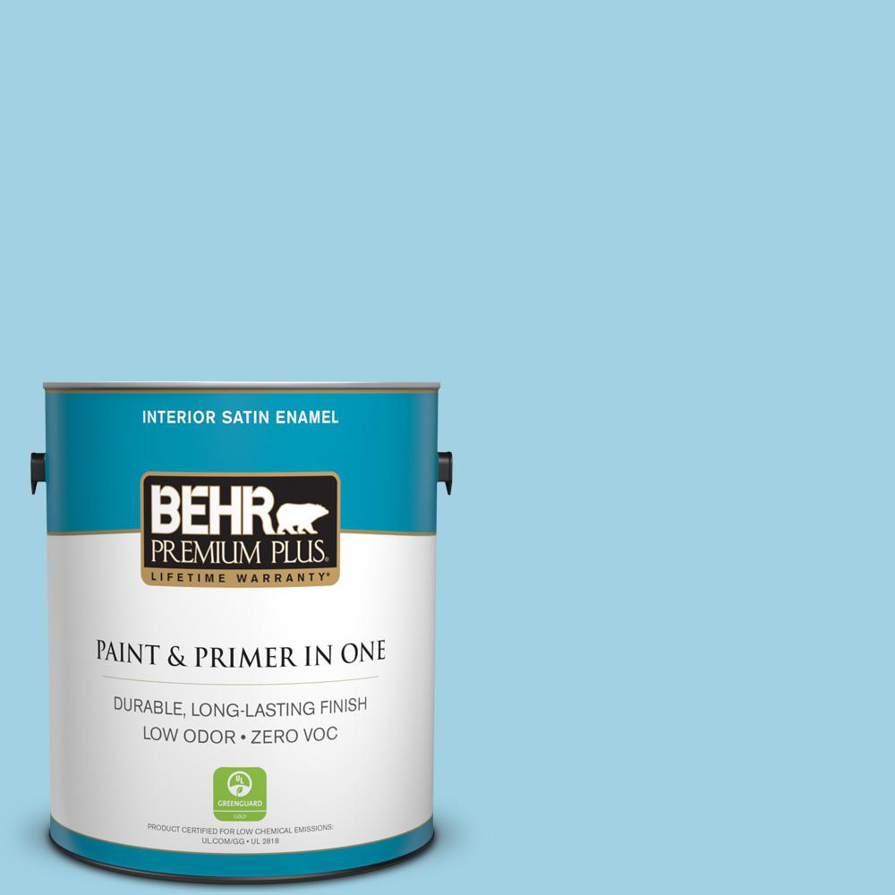 1-gal. #540C-3 Sea Rover Zero VOC Satin Enamel Interior Paint