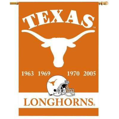 NCAA 28 in. x 40 in. Texas Champ Years 2-Sided Banner with Pole Sleeve
