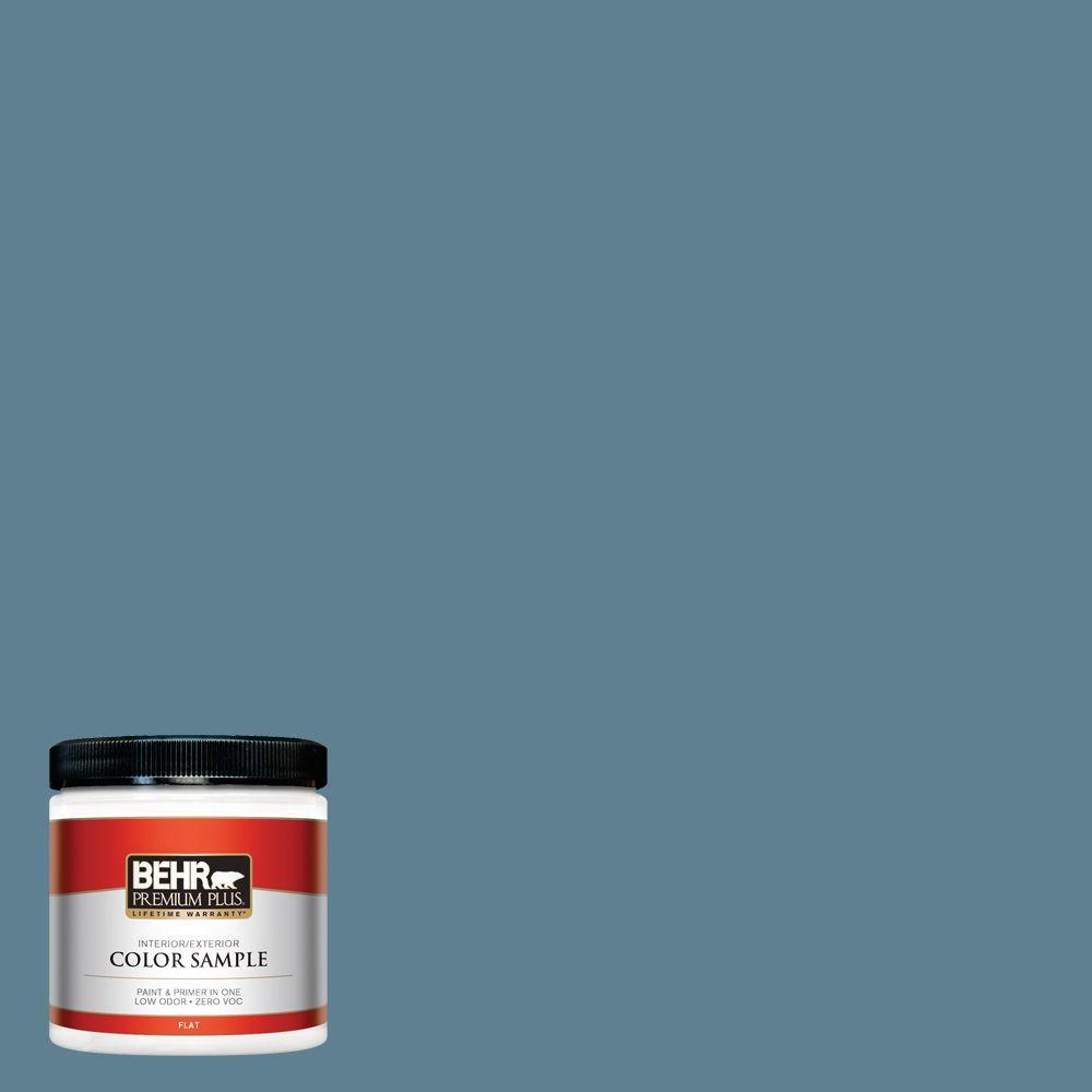 BEHR Premium Plus 8 oz. #BXC-36 Aegean Blue Interior/Exterior Paint Sample
