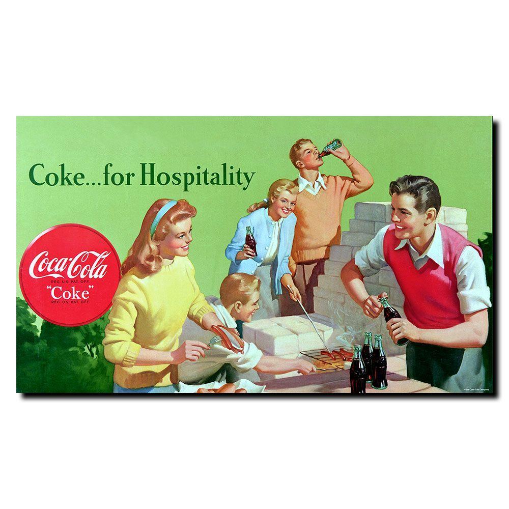 Trademark Fine Art 14 in. x 24 in. Coke for Hospitality Canvas Art