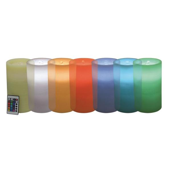 Color Changing Battery Operated Pillar Candle with Water Fountain