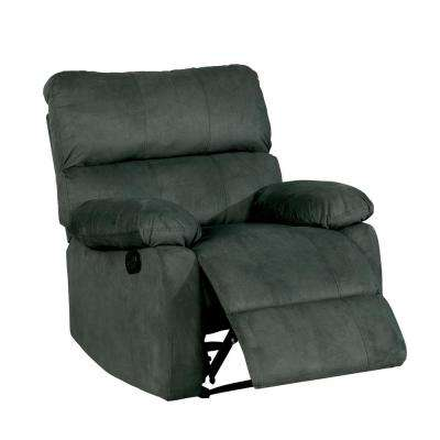 Hudson Gray Flannelette Split Back Recliner
