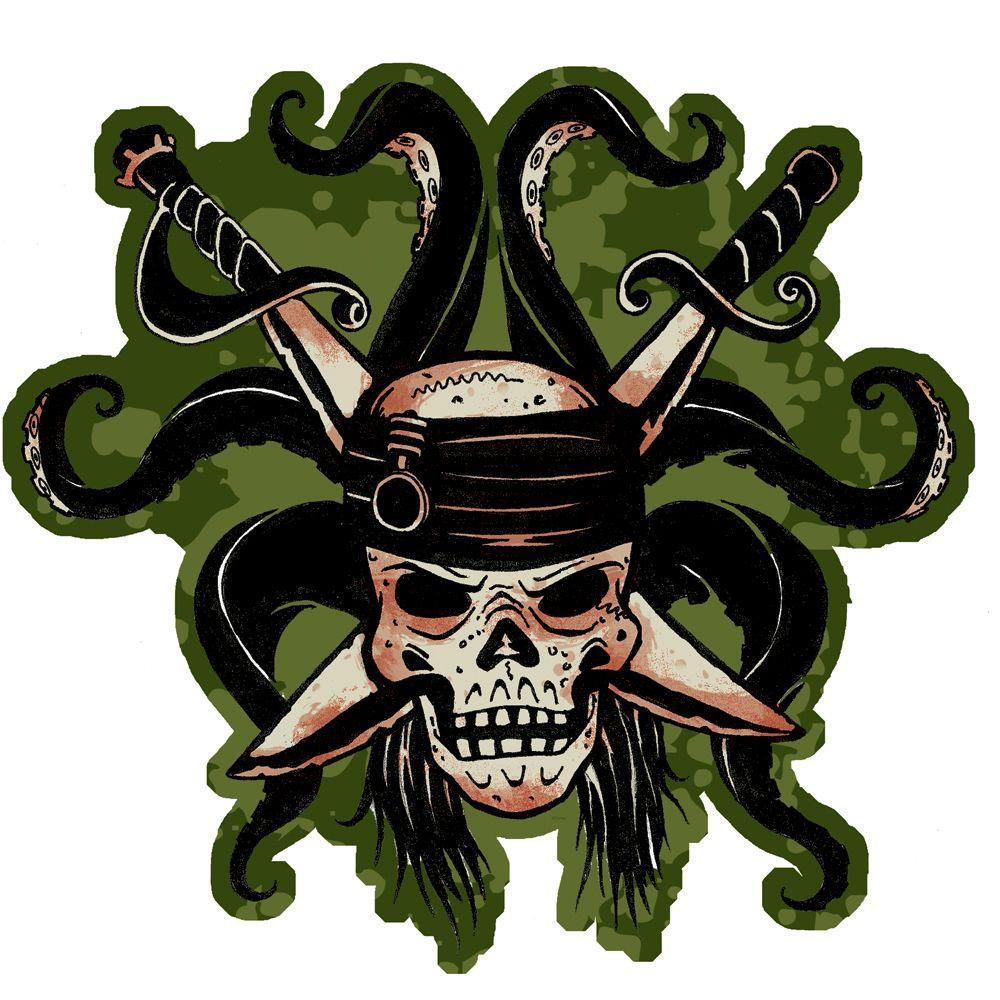 Disney 31.13 in. x 33.25 in. Green Pirates of The Caribbean Mini Wall Mural-DISCONTINUED