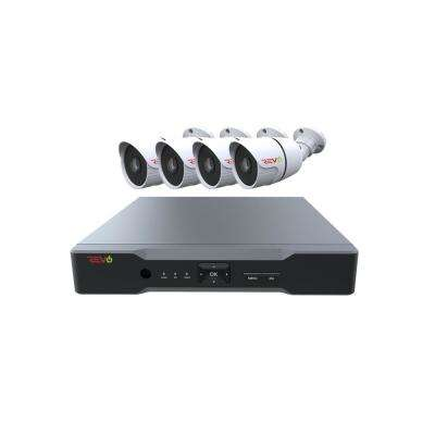 Aero HD 1,080p 4-Channel Video Security System with 4 Indoor/Outdoor Bullet Cameras