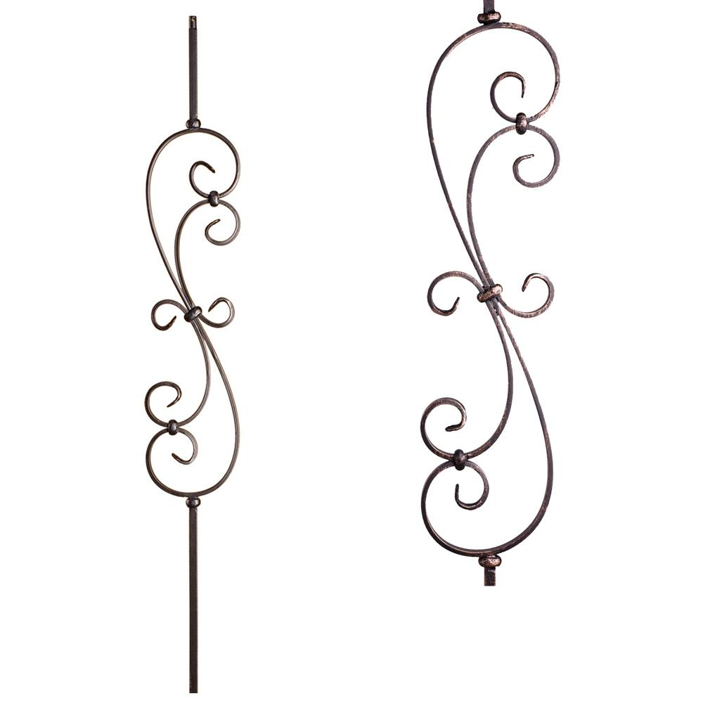 Scrolls 44 in. x 0.5 in. Oil Rubbed Bronze Large Spiral