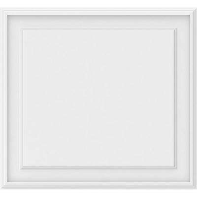 5/8 in. x 2 ft. x 2 ft. Legacy Raised Panel White PVC Decorative Wall Panel