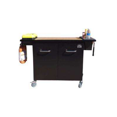 The Handyman 51.5 in. Single-Drawer Portable Utility Cart in Black