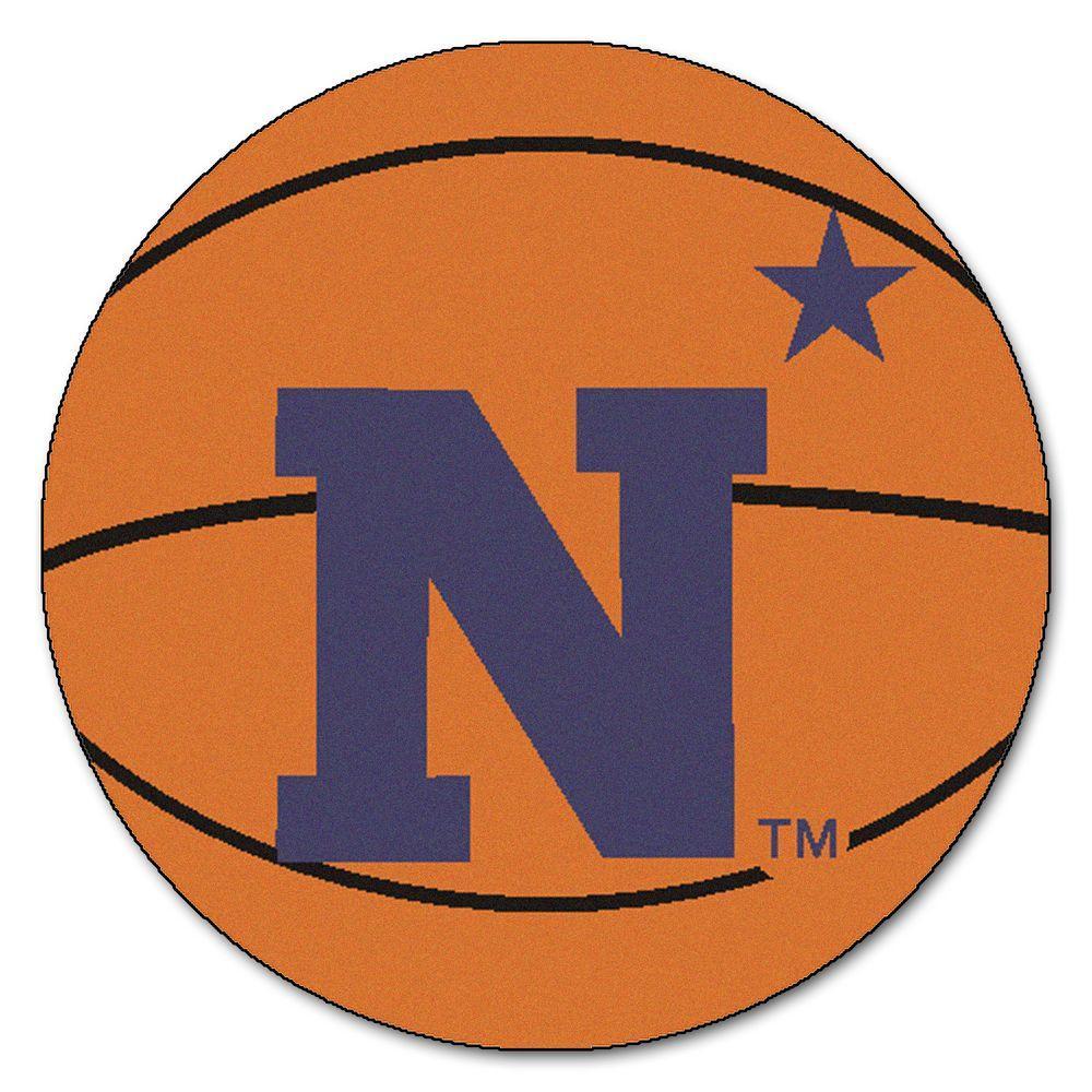 FANMATS NCAA U.S. Naval Academy Orange 2 ft. x 2 ft. Round Area Rug