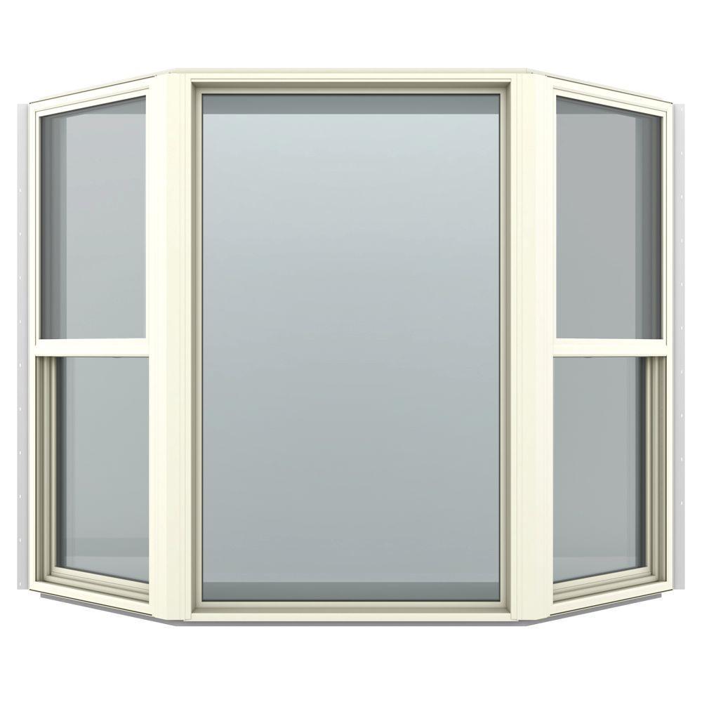 73.5 in. x 61 in. V-4500 Series Tan Vinyl Bay Window