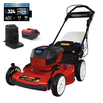 22 in. Recycler 60-Volt Lithium-Ion Cordless Battery Walk Behind Personal Pace Mower - 6.0 Ah Battery/Charger Included